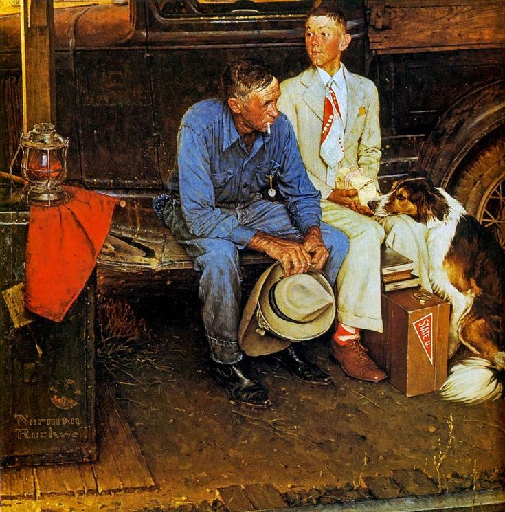 norman rockwell prints - Breaking Home Ties - Associative Thinking Activity