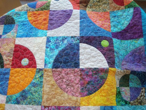 Geometric patchwork Baby or wheelchair lap by MooseCarolQuilts, $300.00