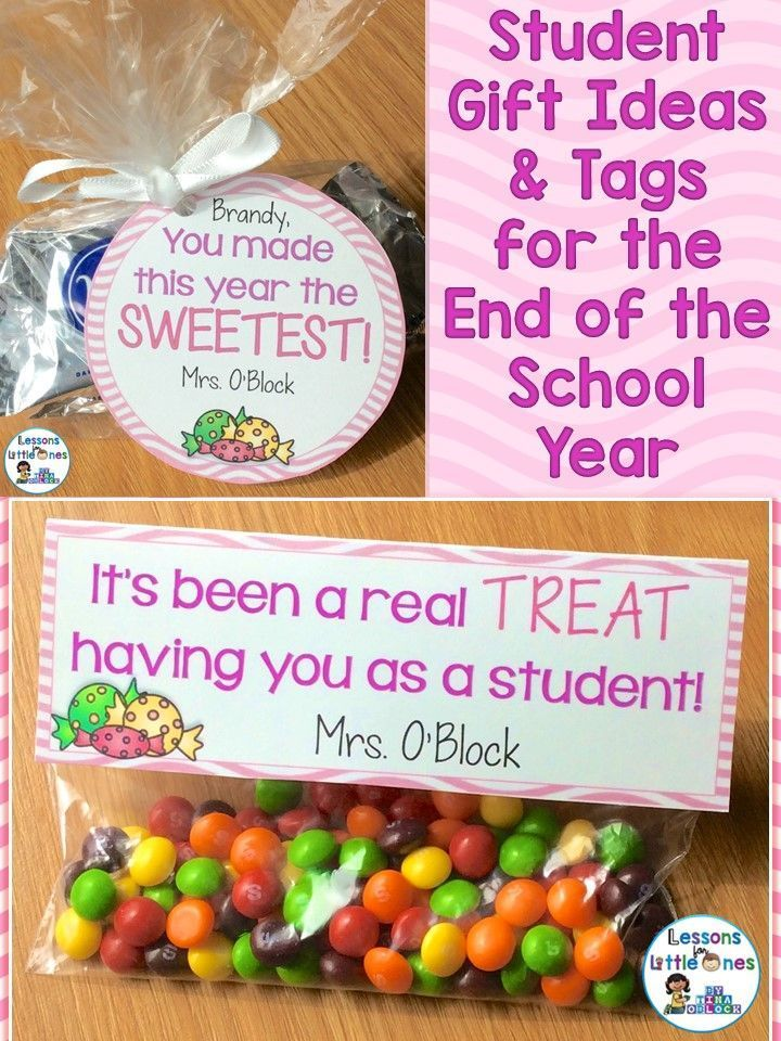 End of the school year student gift ideas and gift tags. These creative ideas are inexpensive and will make your end of the year celebration with students memorable!