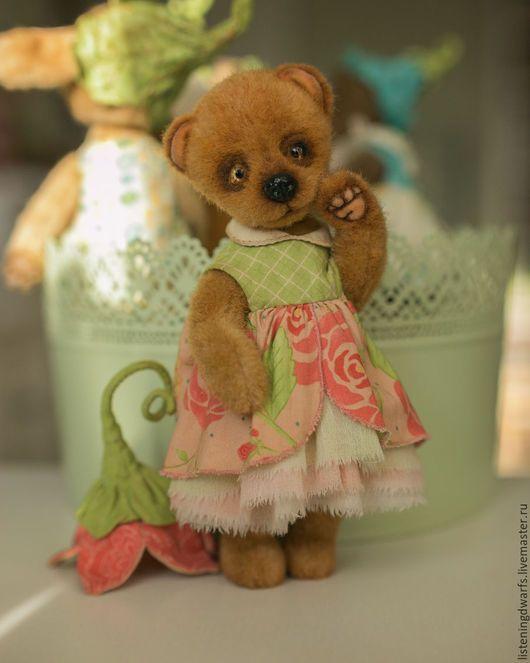 Teddy Bears handmade. teddy bear chloe, designer toy, plush. Aleksandra Kulikova (listeningdwarfs). My Livemaster.Teddy bear #teddy #bear #teddybear #handmade #artdoll #ooakteddy #toy #bunny #teddybunny #rabbit #teddyrabbit #motherday