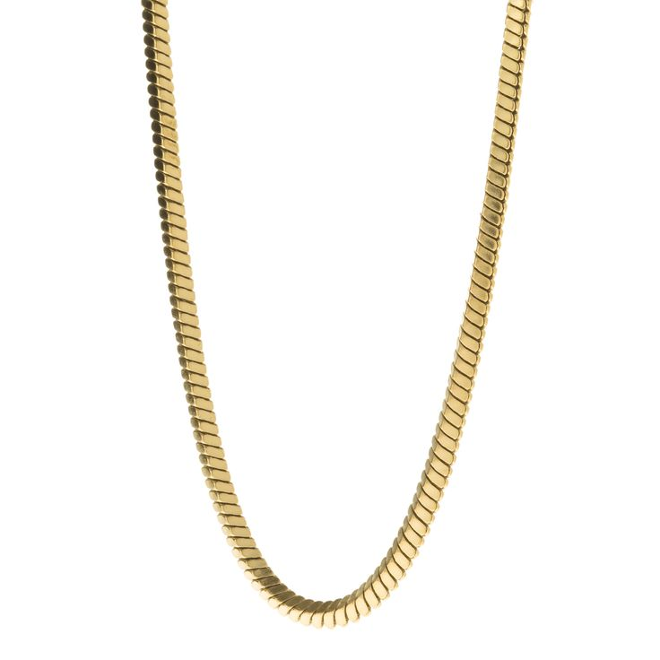 Men's Gold Snake Chain Necklace