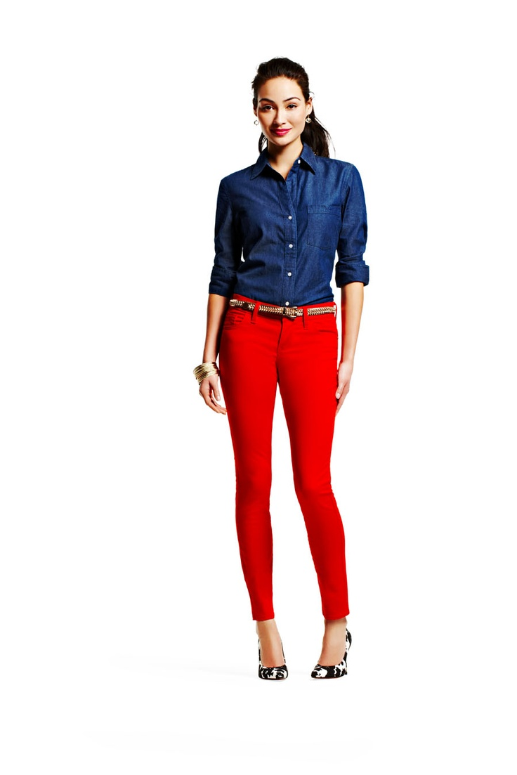 19 best images about Ideas to dress red jeans on Pinterest | Dark ...