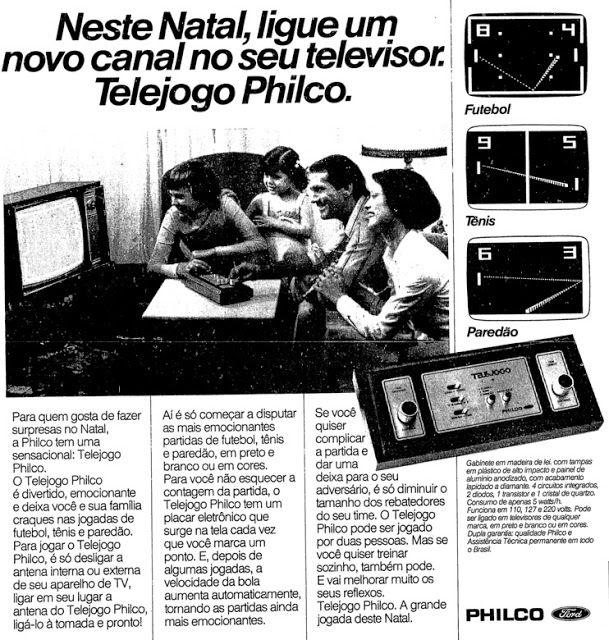 Propaganda do Telejogo da Philco, com oportunidade ao Natal de 1977.