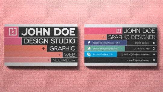 50 Free Photoshop Business Card Templates | Free and Useful Online Resources for Designers and Developers