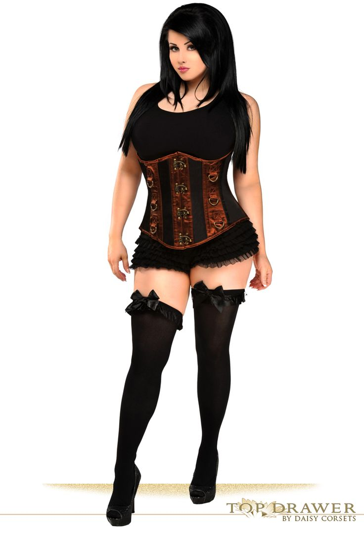 Plus Size Corsets - Top Drawer Steel Boned Underbust Corset to Size 6XL.. SALE 10 % off w/free ship!