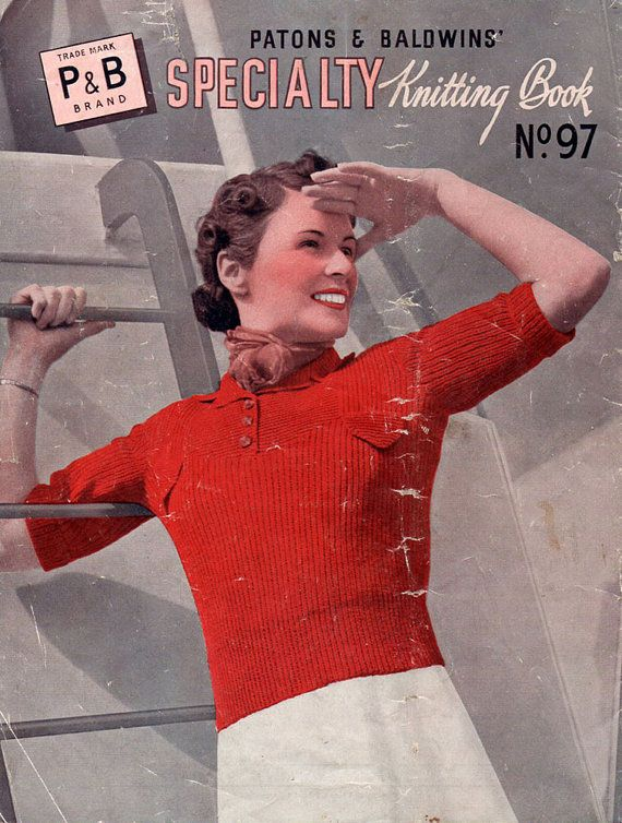 1930s Vintage Knitting Patterns Sweaters for by BessieAndMaive