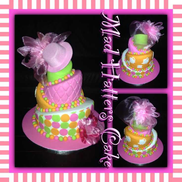 Mad Hatters Topsy Turvy Cake