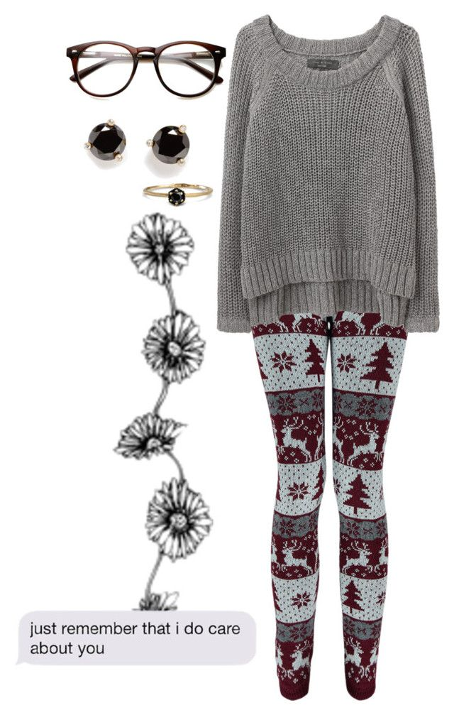 """""""just remember that I do care about you"""" by dreams-of-a-samurai ❤ liked on Polyvore featuring Boohoo, rag & bone/JEAN, Satomi Kawakita and Kate Spade"""