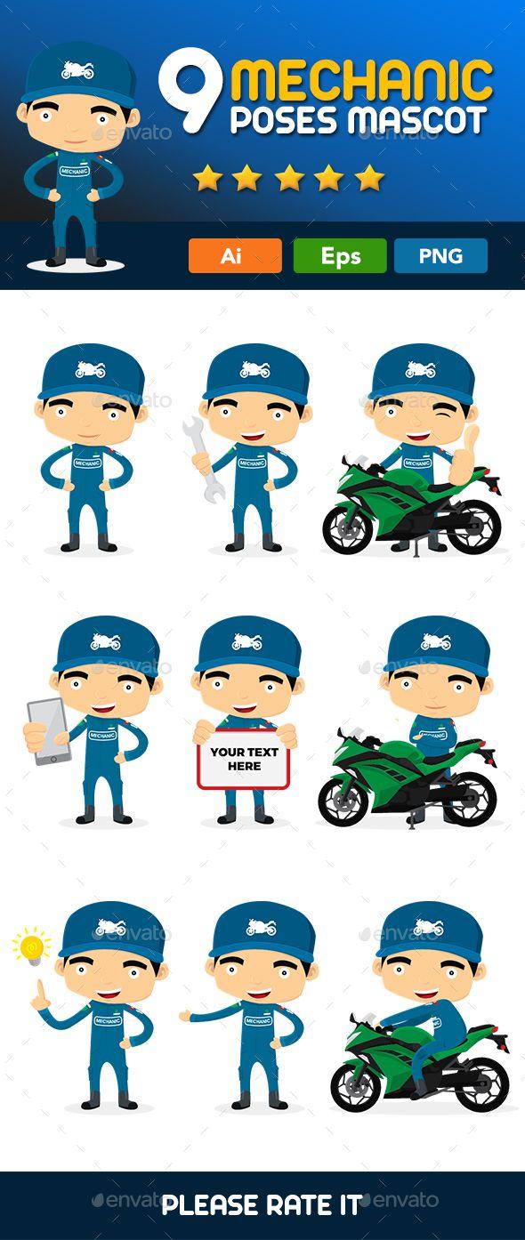 Bike Mechanic Mascot 1.0