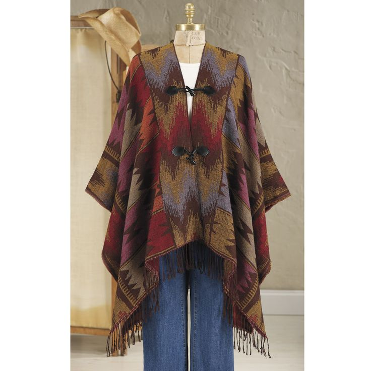 Sunset Poncho - Horse Themed Gifts, Clothing, Jewelry and Accessories all for Horse Lovers | Back In The Saddle