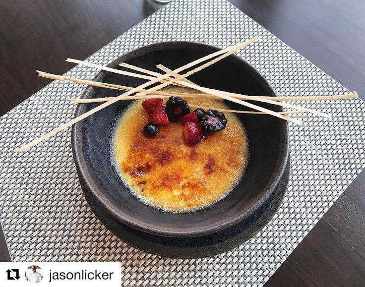 #Repost @jasonlicker (@get_repost) @bakelikeapro  The Lickerland patented Double Layer Creme Brûlée from Tuesday's special dinner. Flavors of raspberry-yuzu & vanilla are full on palate power. Buy Lickerland and make it at home. It was a night of inspiring cuisine with @chefmonica @chefjasonhoward  @justin_dingle_garciyya @angelrb2014 . Thank you @oneandonlyoceanclub @ooresorts . . . #chefstalk #chefsofinstagram  #dessertmasters #TheArtOfPlating #gastroart #gastronogram #GourmetArtistry…