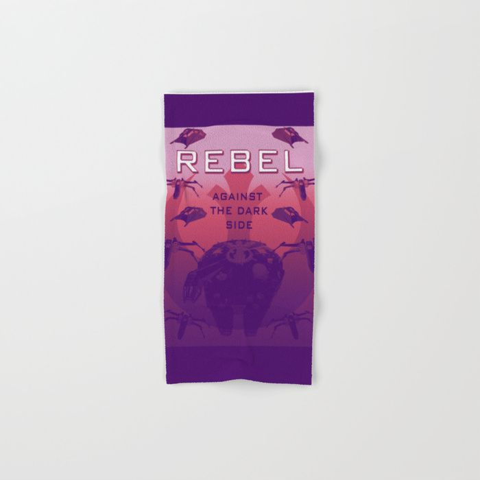 Buy a Set of 2 Hand & Bath Towels and Save! Rebel Against the Dark Side Propaganda Poster Hand & Bath Towel by scardesign. Worldwide shipping available at Society6.com. Just one of millions of high quality products available.