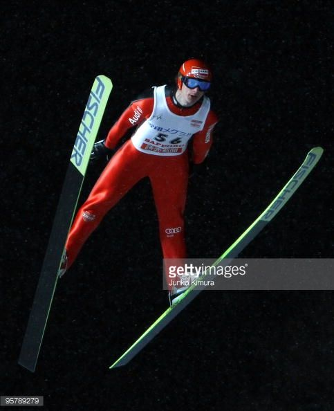 Andreas Wank of Germany in action during the qualification of FIS Ski Jumping World Cup Sapporo 2010 at Okurayama Jump Stadium on January 15 2010 in...