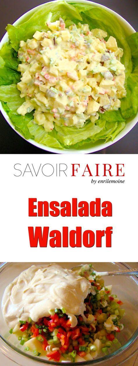 Festiva y crujiente, así es esta Ensalada Waldorf. Haz clic para ver la receta, paso a paso, de esta elegante ensalada, perfecta para las fiestas, desde Acción de Gracias, pasando por Navidad, hasta Año Nuevo.