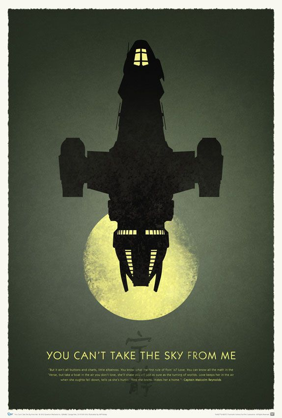 """10th anniversary print for """"Firefly""""."""