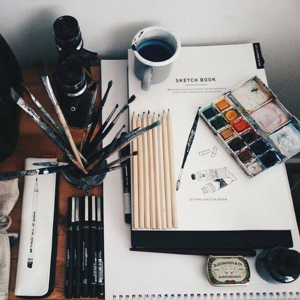 art, brushes, drawing, hipster, indie, paint, painting, tumblr