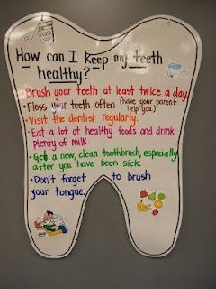 teeth anchor chart #dentalplans #nutritionactivitiesforkids