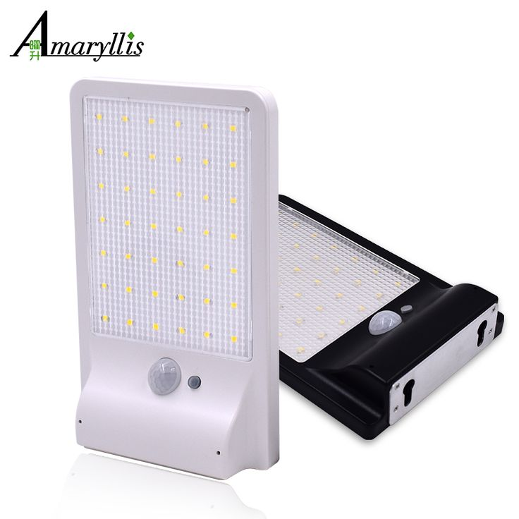 Outdoor lighting 357 pinterest upgraded 42 led solar light ultra thin wireless pir motion sensor solar lamp ip65 waterproof mozeypictures Images