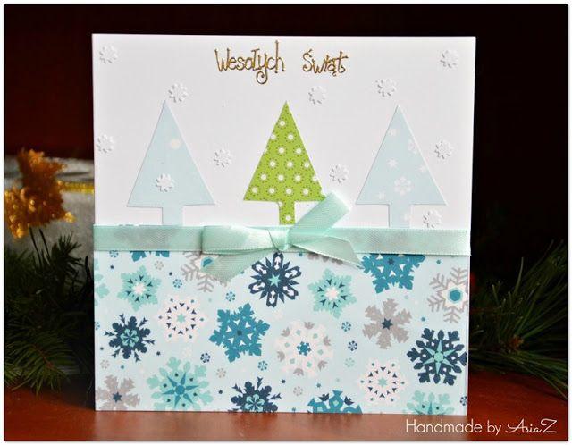 Kartki na Boże Narodzenie - motyw choinki