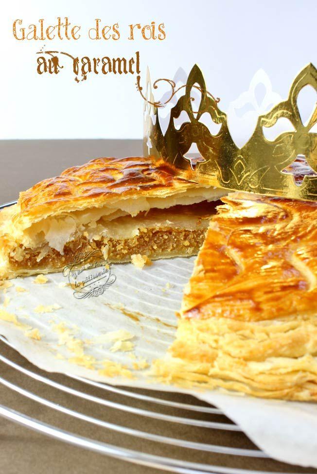 Galette des rois au caramel ! Une crème d'amande au caramel au beurre salé pour rendre la galette encore plus gourmande ! #galette #epiphanie #caramel
