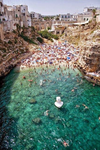 Puglia - Polignano a mare - La spiaggia