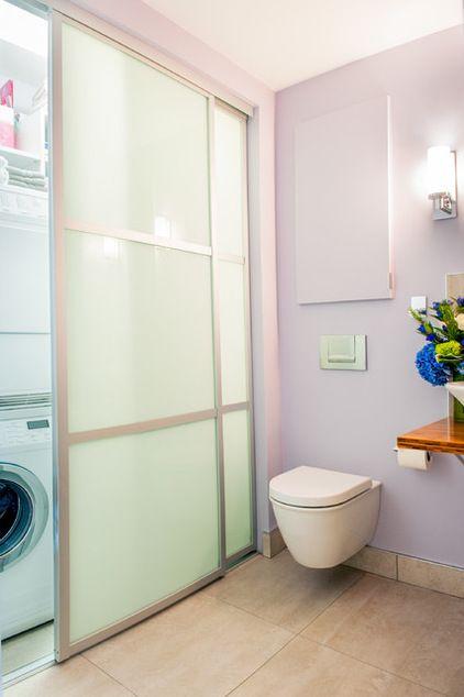 Contemporary Laundry Room by Lee Kimball  Laundry idea??