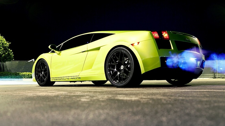 Wallpapers Green And Lamborghini On Pinterest: Lamborghini Gallardo In Green On Hd Wallpapers From Http