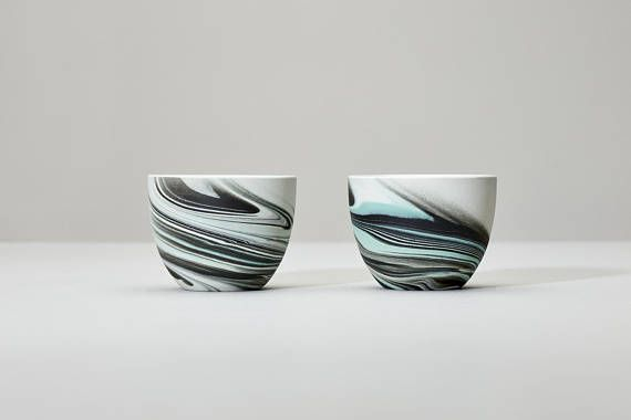 tea cup espresso cup marble ceramic