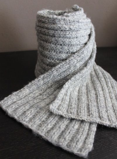 DIY: knit 2 purl 2 scarf Knitting projects Pinterest