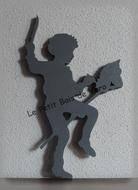 Silhouette garçon cheval - decoration murale - Le Petit Bois de Véro - Fait Maison