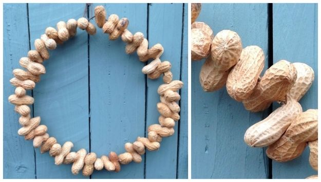 Peanuts   50 Unexpected Wreaths You Can Make Out Of Anything