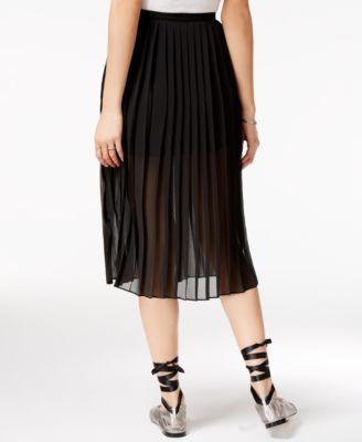Shift Juniors' Pleated Chiffon Skirt, Only at Macy's - Black XL