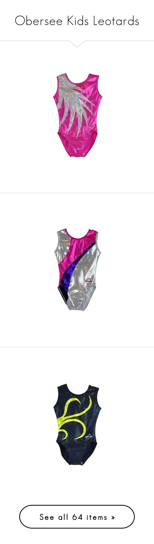 """Obersee Kids Leotards"" by gymholic ❤ liked on Polyvore featuring gymnast, sport and gymnastics"