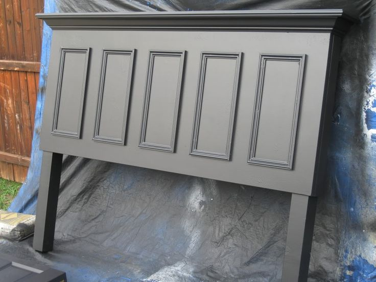 Doors converted into matching full size headboards - designed to hang on the wall