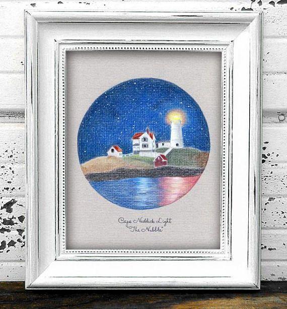 Cape Neddick The Nubble Lighthouse Original