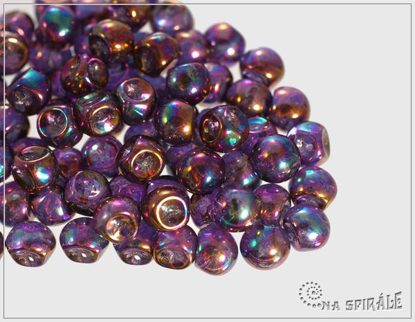 Houbičky 5x6 mm, Crystal Vega Iris, 30 ks