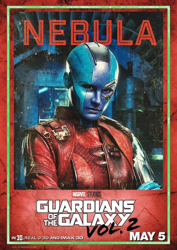 Nebula character poster from Marvel's Guardians of the Galaxy Vol. 2