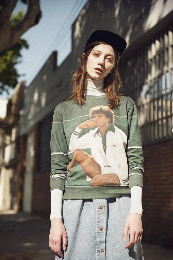 Lacoste Vintage Ads Sweatshirt With Photo Print Pinterest