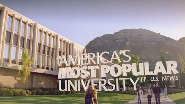 Brigham Young University National Commercial 2010.  Producer: Julie Walker Visual Effects: Ben Unguren Editors: David Wehle, Phillip Goodwin Composer: Sam Cardon