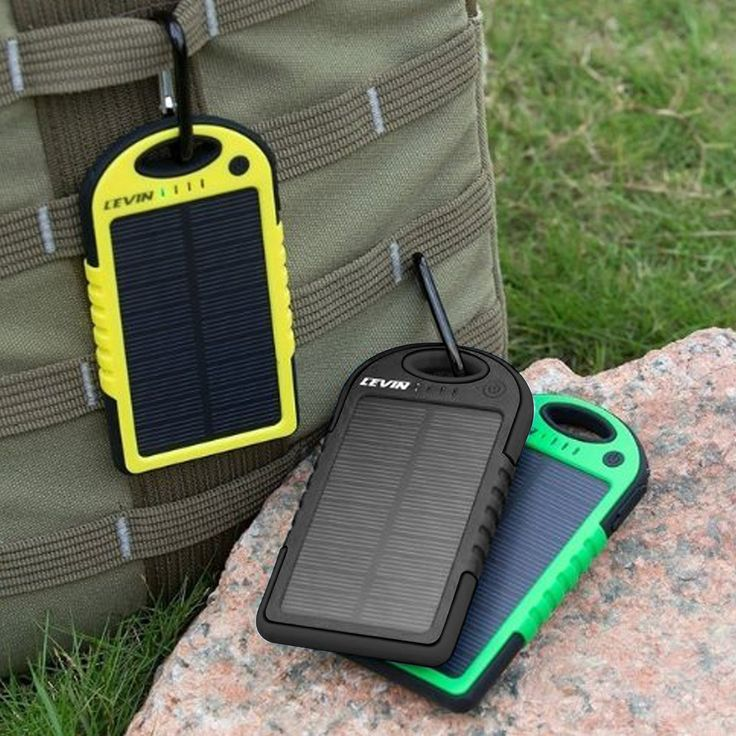 Portable Solar Charger Water Resistant And Shockproof With Images Solar Usb Solar Charger Portable Solar Charger