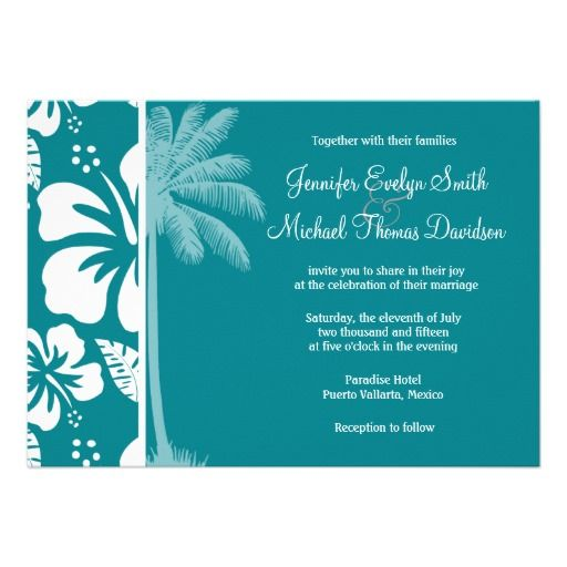 57 best Turquoise Wedding Invitations images on Pinterest Pool