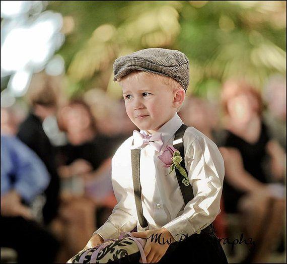 Boys Flat Cap - Ring Bearer - Baby Toddler Kids Classic Newsboy Fall Winter Spring Summer Wedding - Organic Cotton on Etsy, $38.00