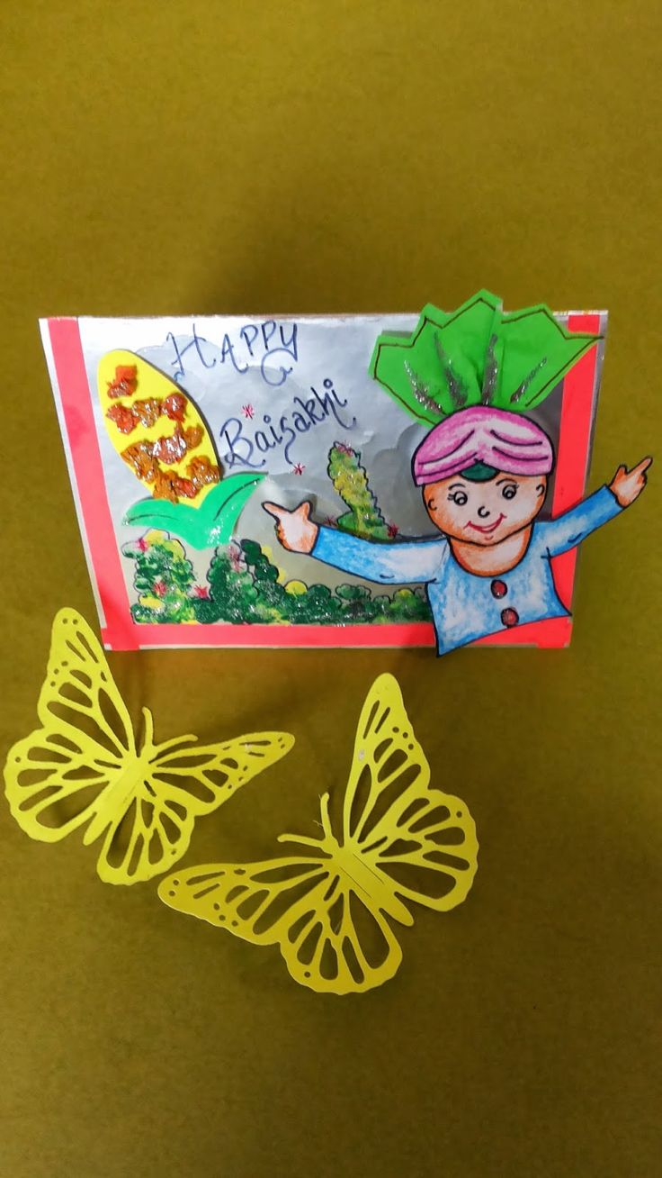 Art ,Craft ideas and bulletin boards for elementary schools: Craft for Baisakhi festival