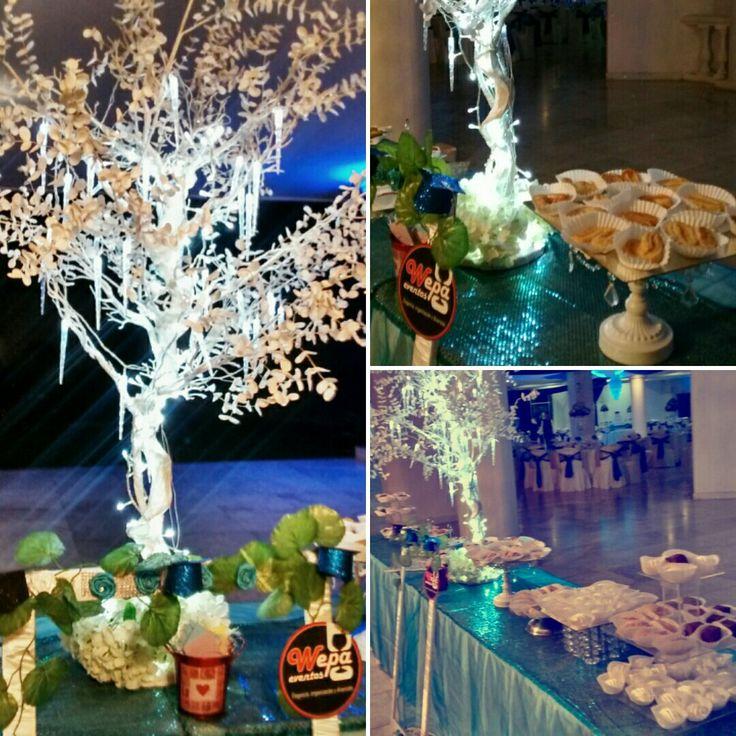 Árbol deseos + mesa dulces