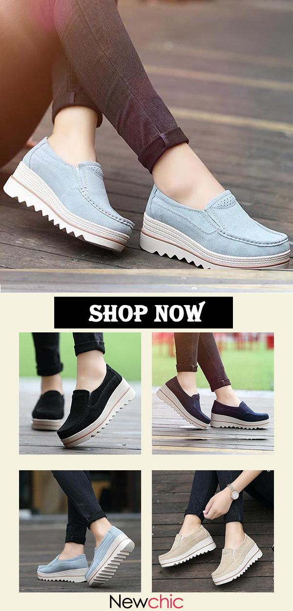 49c5915429c  45% OFF Womens Breathable Suede Round Toe Slip On Platform Shoes womenfashion   fashionideas  wishlist  goodshoes