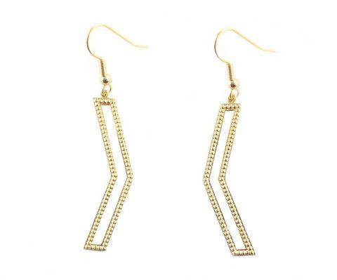 Dame Chevron Earrings