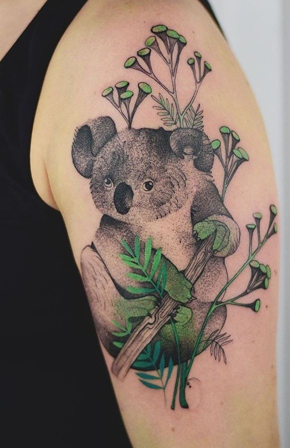 Joanna Świrska Dzo Lama koala tattoo