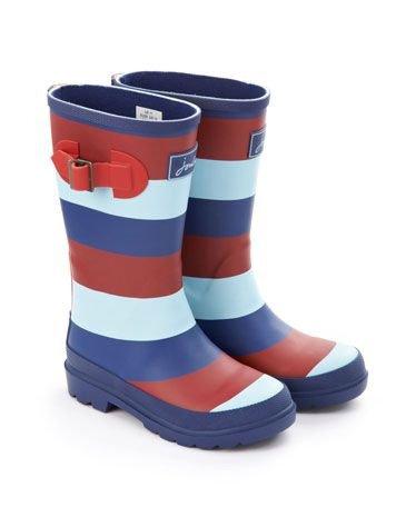 Joules H4HWELYK Kids Help For Heroes Welly, Multi. Puddle proof your feet and get ready to splash out in perfectly patriotic style.