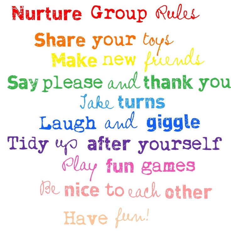 Nurture Group Rules