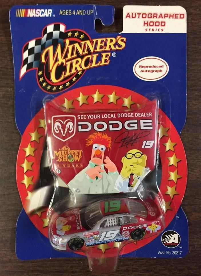 Jeremy Mayfield #19 NASCAR Winners Circle 1:64 The Muppet Show Diecast Car Hood #WinnersCircle #Dodge